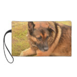 German Shepherd with One Floppy Ear Wristlet