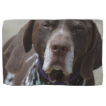 German Shorthaired Pointer Dog Hand Towel