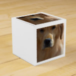 Golden Pup Favor Box