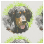 Gordon Setter Dog Fabric