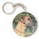Great Dane Photo Keychain