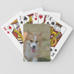 Happy Corgi Playing Cards