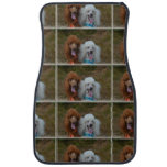 Pair of Poodles Car Floor Mat