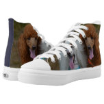 Pair of Poodles High-Top Sneakers