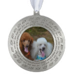 Pair of Poodles Pewter Ornament