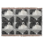Papillon Dog Throw Blanket