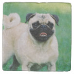 Poised Pug Stone Coaster