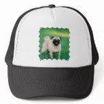 Poised Pug Trucker Hat