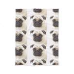 pug-7 fleece blanket