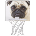 Pug Dog Mini Basketball Backboard