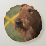 Really Cute Airedale Terrier Round Pillow