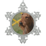 Really Cute Airedale Terrier Snowflake Pewter Christmas Ornament