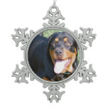 Rottweiler Dog Snowflake Pewter Christmas Ornament