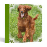 Running Irish Setter Binder