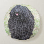 Shaggy Puli Dog Round Pillow