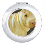 Shar Pei Dog Mirror For Makeup