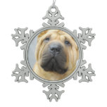 Shar Pei Snowflake Pewter Christmas Ornament