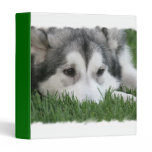 Sleeping Husky Dog Binder