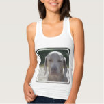 Sleepy Weimaraner Tank Top