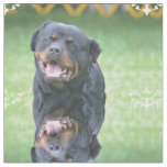 Smiling Rottweiler Fabric