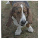 Sweet Basset Hound Cloth Napkin