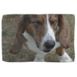 Sweet Basset Hound Kitchen Towel
