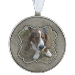 Sweet Basset Hound Pewter Ornament