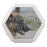 Sweet German Shepherd Dog White Bluetooth Speaker