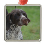 Sweet German Shorthaired Pointer Metal Ornament