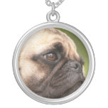 Sweet Pug Silver Plated Necklace