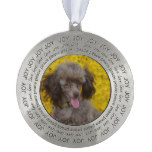 Sweet Tiny Brown Poodle Ornament