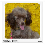 Sweet Tiny Brown Poodle Wall Decal