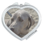 Sweet Weimaraner Makeup Mirror