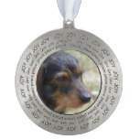 Wire Haired Daschund Dog Pewter Ornament
