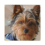 Yorkie Wood Coaster